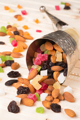 Cornucopia with dried fruit