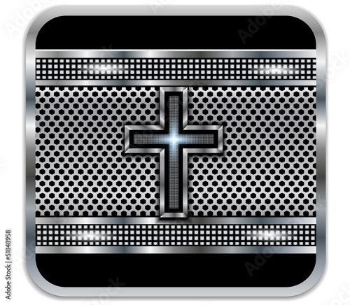 Background metal Cross.Vector