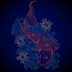 neon japanese fish koi