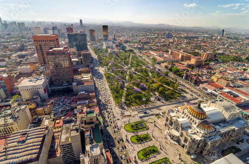 Fotobehang Mexico Mexico City Aerial View