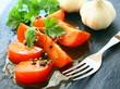 tomates à la vinaigrette