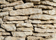 The old vintage stone wall