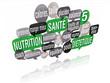 nuage de mots bulles 3d : nutrition santé