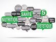 nuage de mots bulles : nutrition santé
