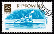 Postage stamp Romania 1962 Kayak, Water sport