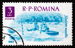 Postage stamp Romania 1962 Water Slalom, Water sport