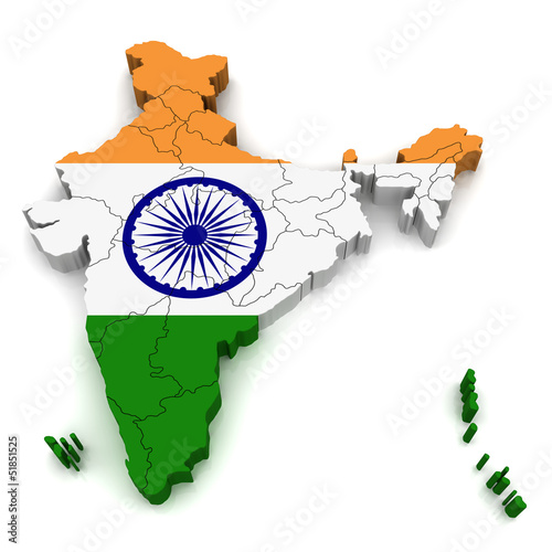 3d Map Of India Poster Id F51851525