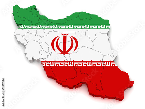 3D Map of Iran