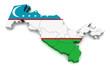 3D Map of Uzbekistan