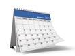Folded September 2011 Desktop Calendar