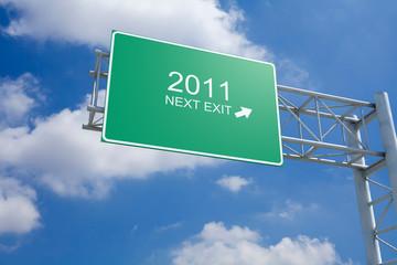 2011 - 3D Highway Exit Sign