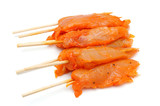 raw spicy chicken skewers