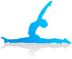 Yoga - Halbmond und Spagat (Anjaneyasana)