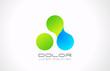 Logo molecule abstract. Nano technology concept icon.