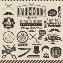 Collection de grunge vintage coiffeur étiquettes boutique