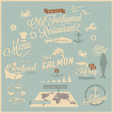 Old Fashioned restaurant - Typography design