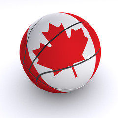 Canadian Basket Ball on White