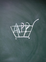 app shopping cart symbol