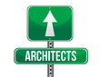 architects road sign illustration design