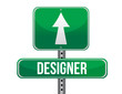 designer road sign illustration design