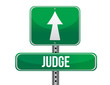 judge road sign illustration design