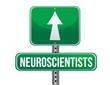 neuroscientists road sign illustration design