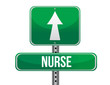 nurse road sign illustration design