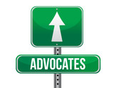 advocates road sign illustration design poster