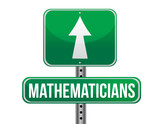 mathematicians road sign illustration design poster