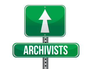 archivist road sign illustration design