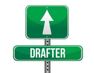 drafter road sign illustration design