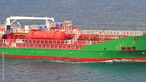 Close-up of Oil Chemical Tanker Ship