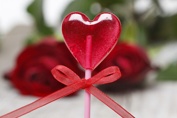 Lollipop in heart shape
