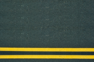 Double Yellow Lines on road.