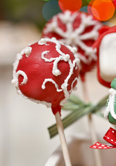 Cake pops - a form of cake styled as a lollipop, invented in USA