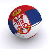 Serbian Basket Ball on White