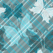 Seamless gray pattern with butterflies