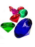 emerald sapphire ruby topaz gem stones crystals poster