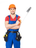 Handyman with saw