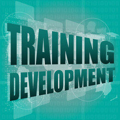 Education and learn concept: Training Development on digital