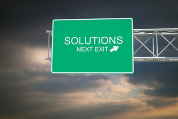 Solutions - 3D Highway Exit Sign