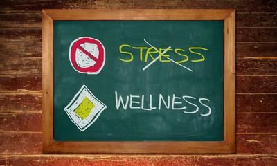 Kreidetafel - Stress - Wellness