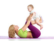 Mother With Baby Doing Gymnast...