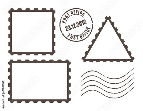 Vector post stamps set