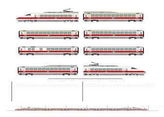 High speed train kit