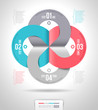 Abstract infographics template design with numbered
