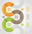 Abstract infographics template  design with numbered elements