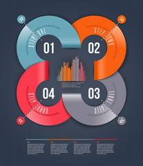 Abstract infographics design with numbered elements