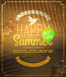Summer holidays greeting emblem and sticker