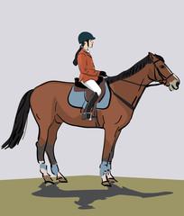 teenage girl riding a horse